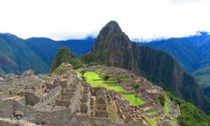 Zicht op Machu Picchu Peru